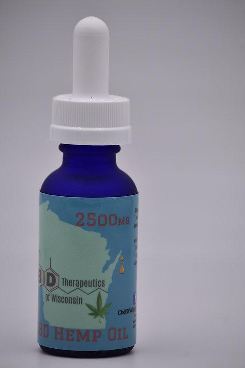 2500mg CBD Isolate Oil - 30ml Bottle