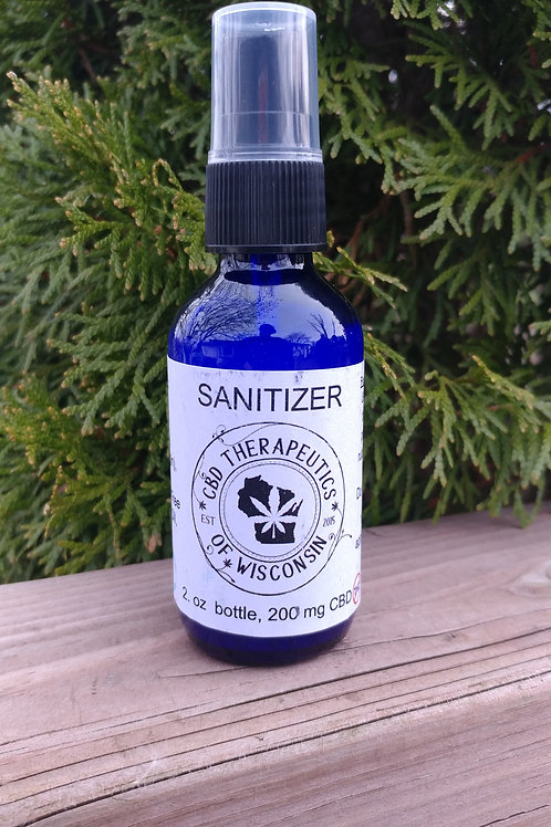 200mg CBD Hand Sanitizer - 2oz. Spray Bottle