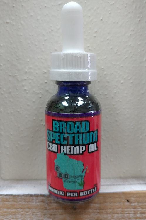 1000mg CBD Broad Spectrum Oil - 30ml Bottle