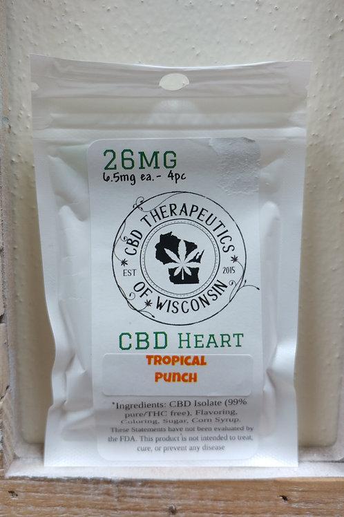 26mg CBD Candy Hearts - 4 Piece