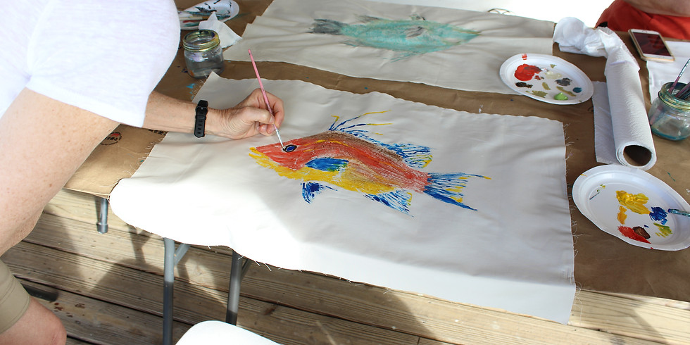 Painting with a Fish - Sold Out