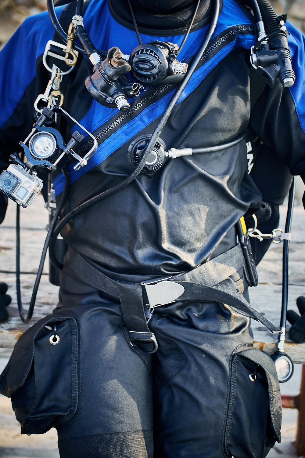 Diver in a dry suit
