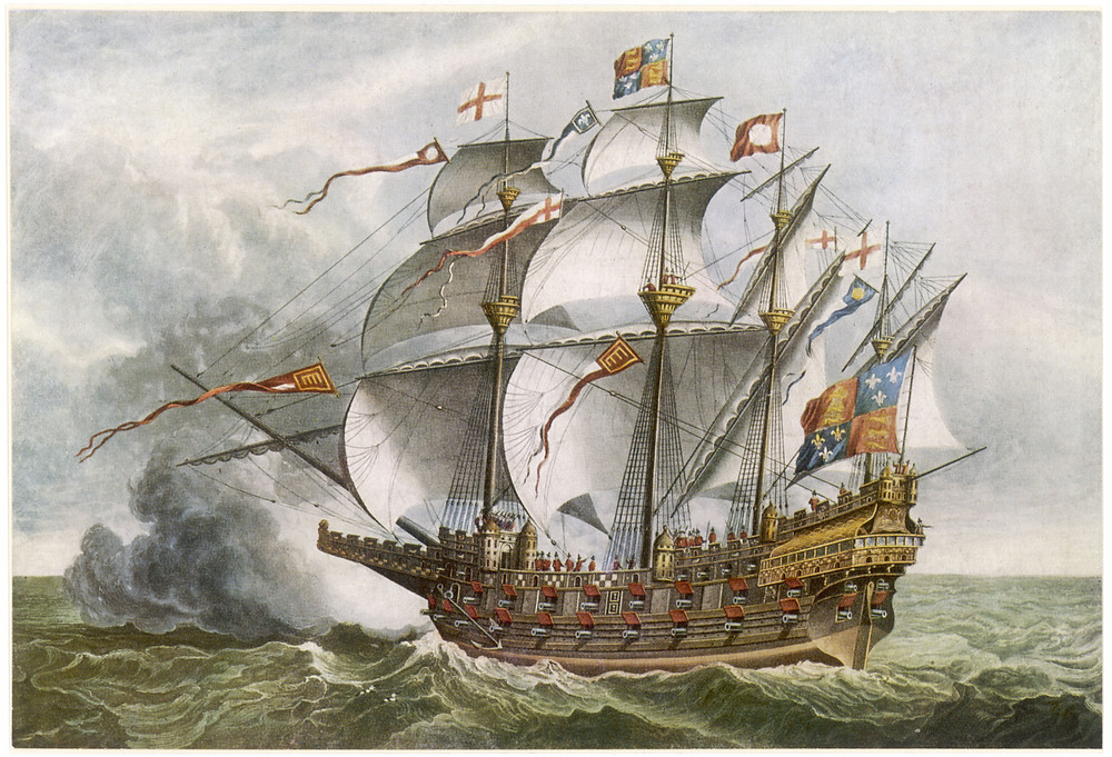 Painting of a 15th century carrack