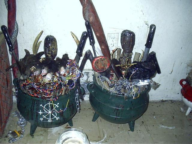 Palo Mayombe cauldrons