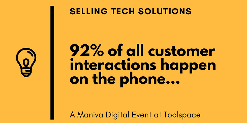 Sales: How to sell tech solutions?