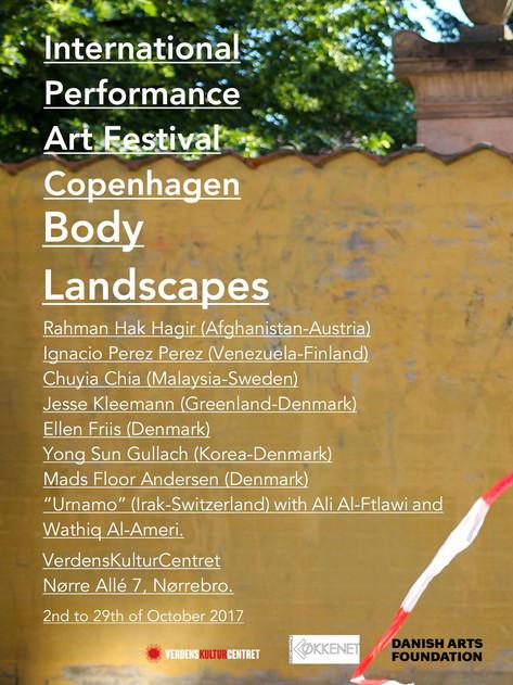 INTERNATIONAL PERFORMANCE ART FESTIVAL BODY LANDSCAPES COPENHAGEN 2017