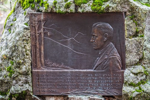Every U.S. National Park has displays honoring their incredible history. This plaque of Stephen Mather, the first Director of the National Park Service, can be found in every park.