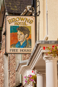 Browns Hotel exterior Laugharne Carmarthenshire South Towns and Villages