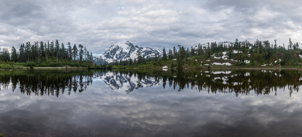 The beauty of the North Cascades is perfectly rendered at Mount Shuksan -- one of the best places in the park to set up a camera and bag some shots.