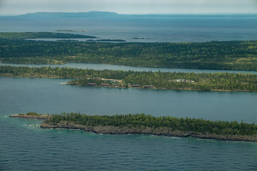 Isle Royale from the air.