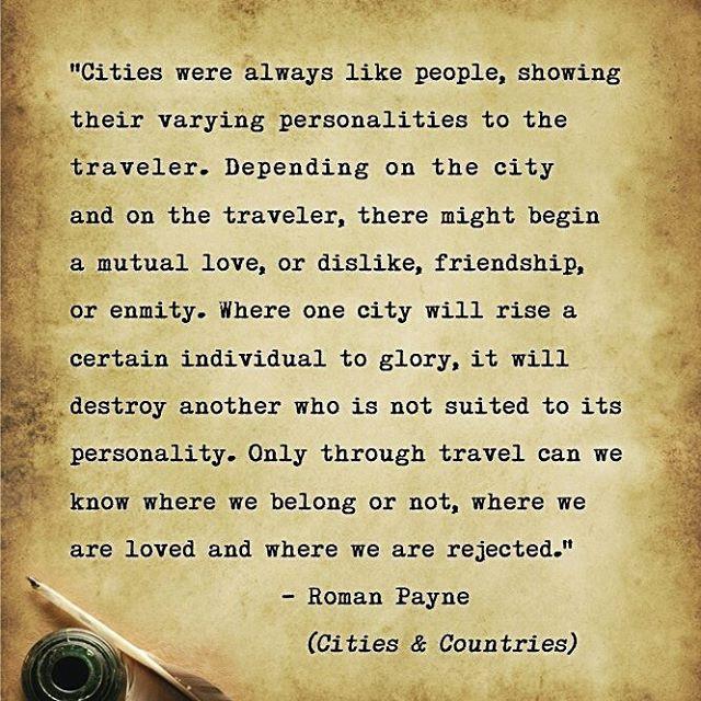 Cities were always like people