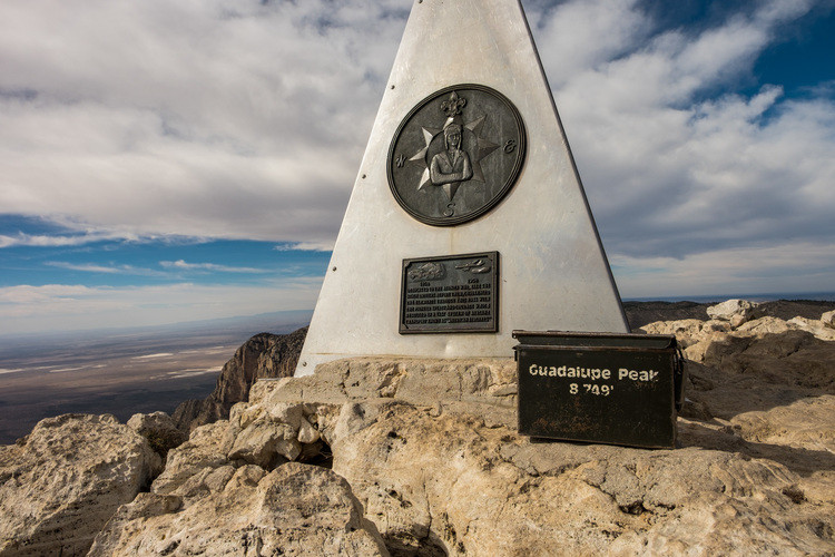 Signing your name at the top of Guadalupe Peak is part safety, part right of passage.