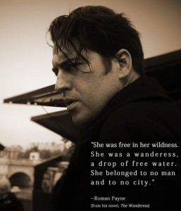 Roman Payne on the banks of the Seine in Paris, along with the literary quote he is most famous for.