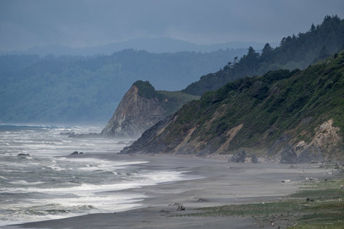 The California coast in Redwood National and State Parks.