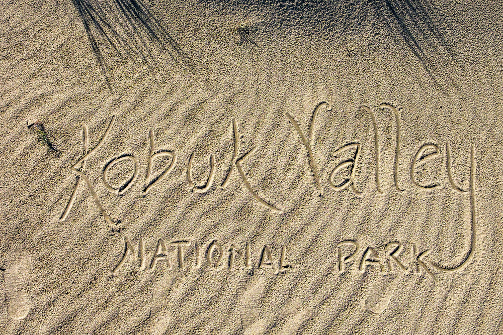 There are no hiking stick medallions from Kobuk, but their are other ways to be creative! Signing off in the Arctic dunes.