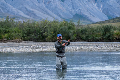 Our buddy Nathan, a Montana-based fly-fisherman with a beautiful cast, spent his lunch breaks pulling up catches instead of eating.