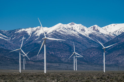 Wind power Nevada! The Spring Valley Wind Farm just outside of the park.