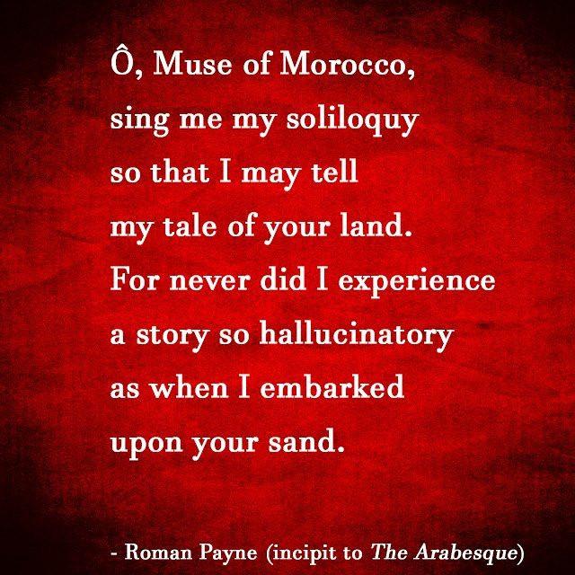 -Ronam Payne (incipit to The Arabesque)