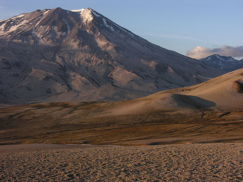 "Mount Griggs is named after Robert Griggs ""discoverer"" of the Valley of Ten Thousand Smokes. Through the National Geographic Society and his efforts, Katmai National Monument was established in 1918 to preserve this volcanic wonderland. Credit: Wikipedia"