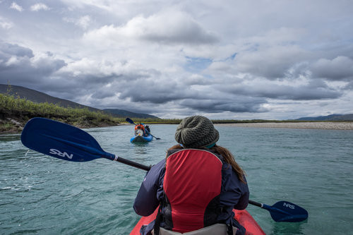 Floating down the Noatak River on a 5-day paddle and backpacking trip through Gates of the Arctic with Alaska Alpine Adventures.