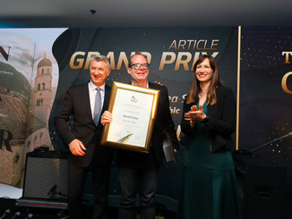 Croatian Tourist Board Awards American Journalist David Farley at Golden Pen Awards