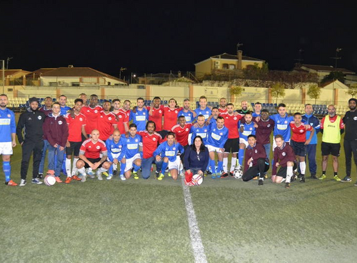 A friendly match with Spanish Team in Malaga