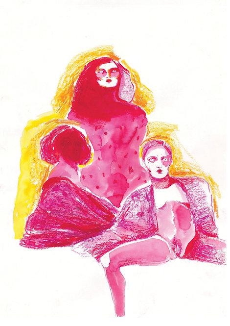 Ilustração Três Rosas