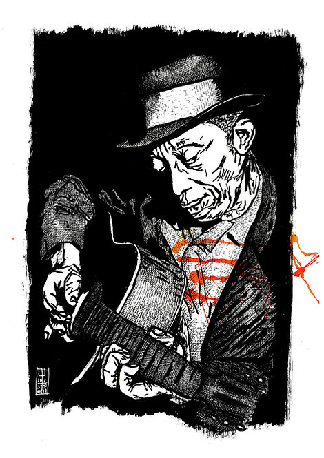 Ilustração  Mississippi John Hurt