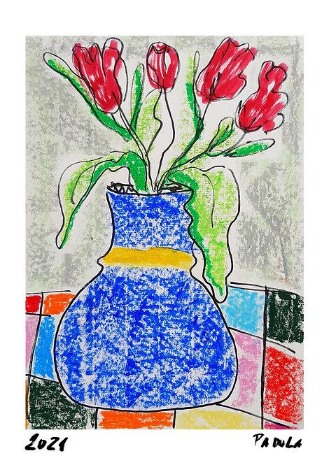 Ilustração Vaso de Flor