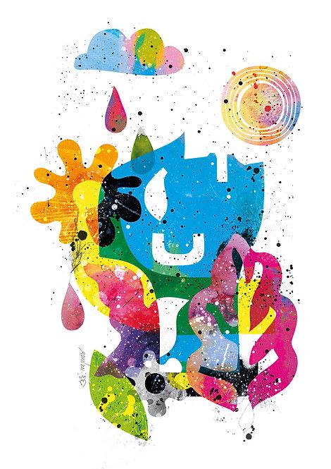 Ilustração Chuva das Cinco