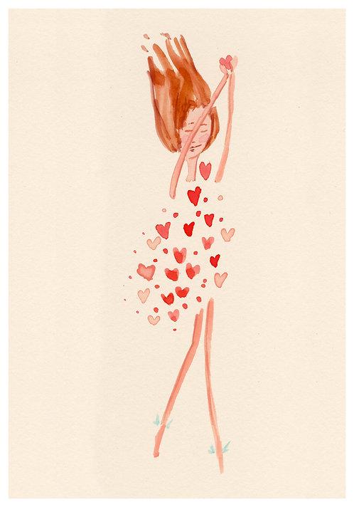 Ilustração Segura Coração