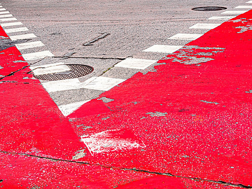 Fotografia Vermelho, branco e cinza