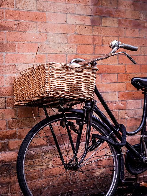Fotografia Bicicleta Romagnola com Cesta