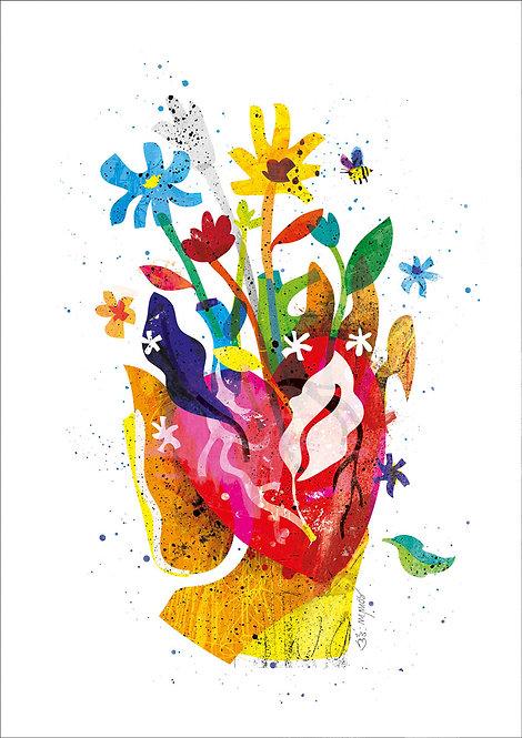 Ilustração Coração de Mãe