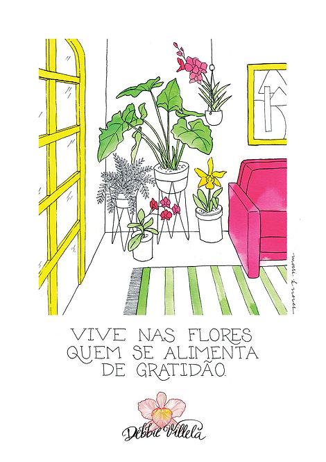 Ilustração Mantra Viver nas Plantas