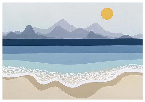 Ilustração Praia Particular