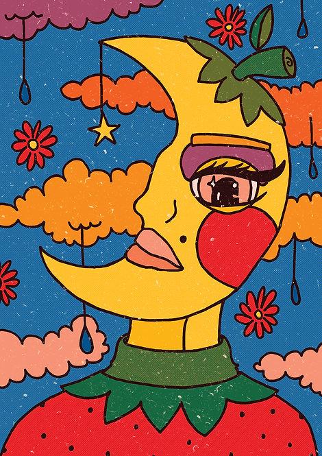Ilustração Lua de Morango