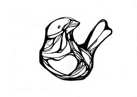 Ilustração Passarinho