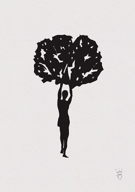 Ilustração Homem Árvore