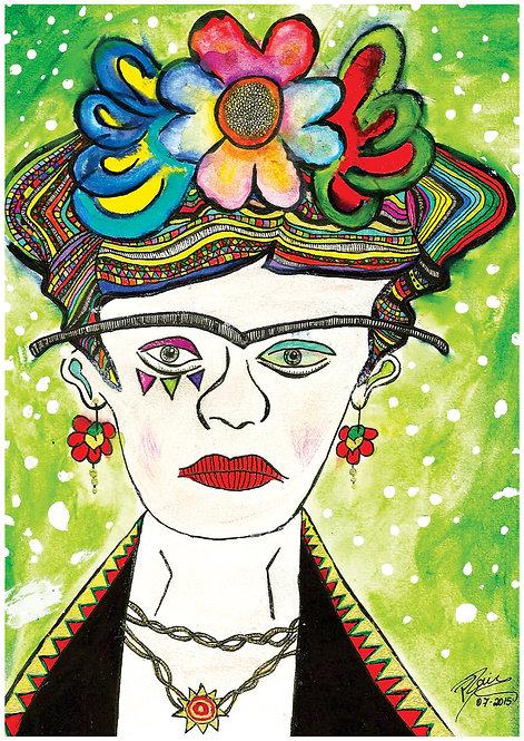 Ilustração Colorida Frida