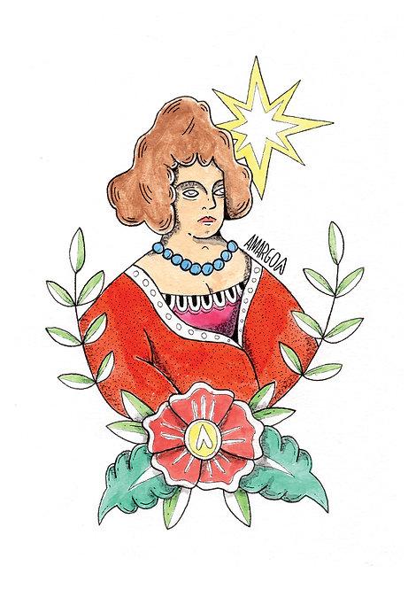 Ilustração Mulher de Vermelho