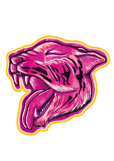 Ilustração Tigre-cor-de-rosa