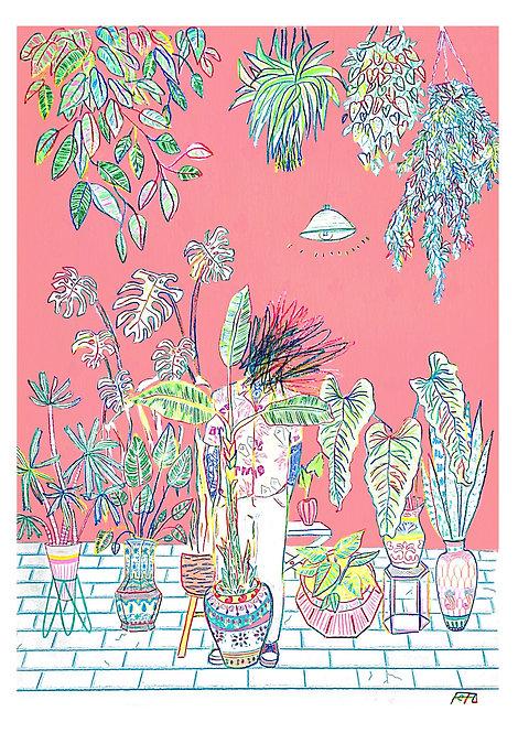 Ilustração Floresta Rosa