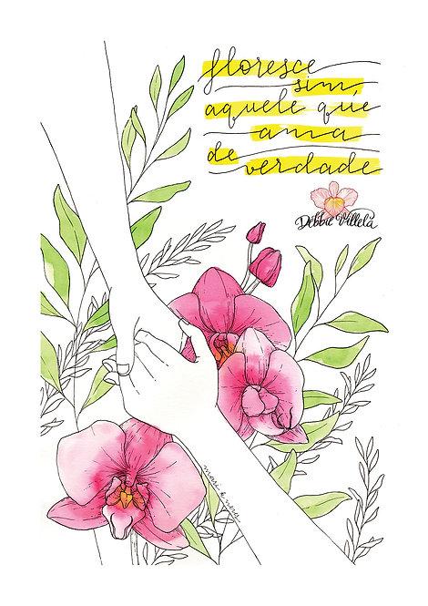 Ilustração Mantra Floresce