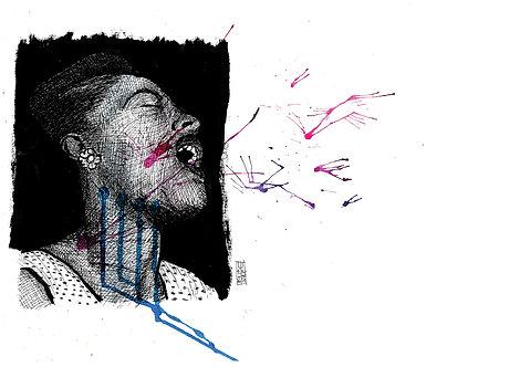 Ilustração Billie Holiday