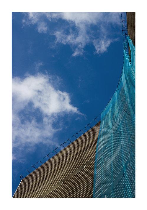 Fotografia Copan e o Tecido Azul