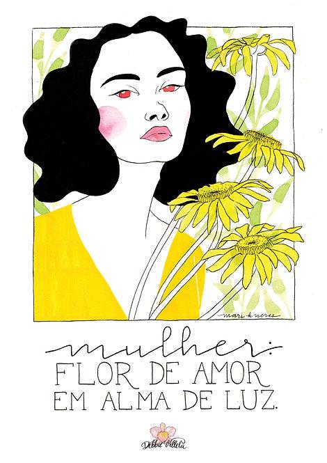 Ilustração Mantra Mulher/Luz
