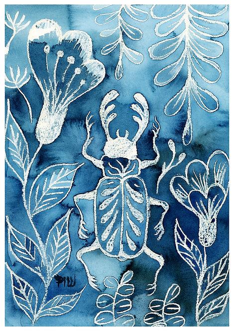 Ilustração Besouro Azul