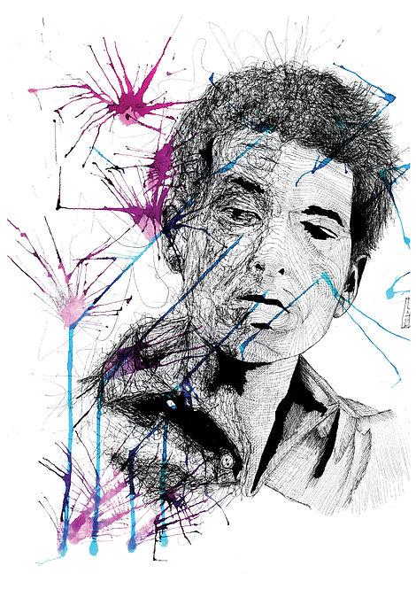Ilustração Bob Dylan