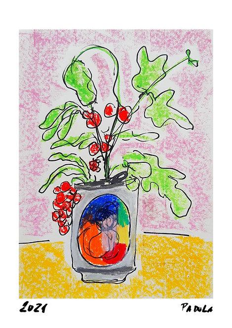 Ilustração Flores em Lata